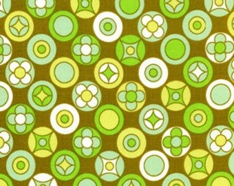 Olive - Erin McMorris Wildwood Buttons - EM19 100% Quilters Cotton Available in Yards, Half Yards and Fat Quarters