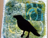 Crow Thoughts     fiber art