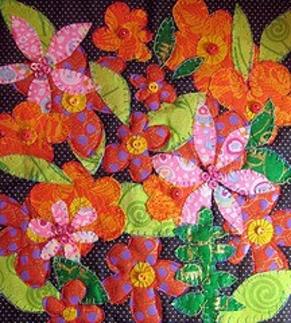Summer of Love  original small art quilt