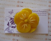 Store Closing Coupon Code 35 percent Yellow Felt Flower Clip