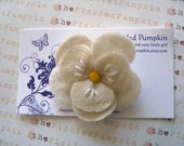 Store Closing Coupon Code 35 percent Cream Felt Flower Clip