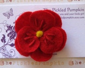 Store Closing Coupon Code 35 percent Red Flower Felt Clip