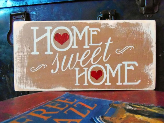 Typography Wood Sign Home