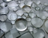 Glass photo lenses circles squares rectangles big and small