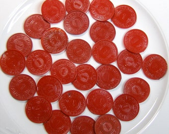 Lot 10 Old Red Plastic Missouri State Tax Tokens