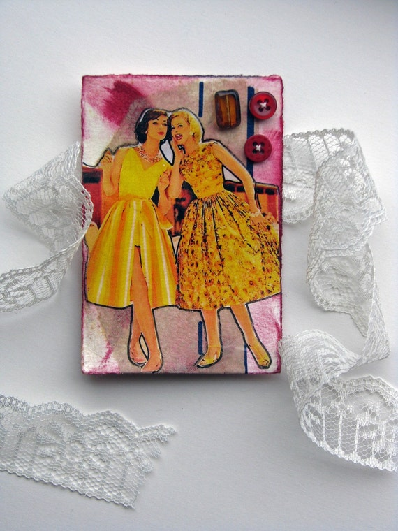ACEO Wedding Button Card