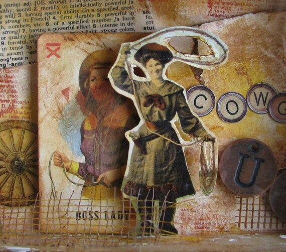 Cowgirl Up Collage