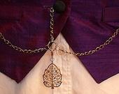 Brass Double Albert Watch Chain -- Figure 8 Chain