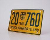 Vintage Mini License Plate 1953 Prince Edward Island - Wheaties Cereal Premium