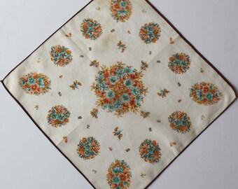 Elegant Vintage Spring Bouquet Handkerchief