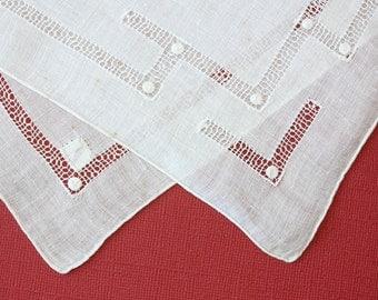 Elegant Vintage Handkerchief with P Monogram