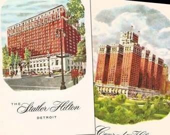Vintage Hilton Hotel Postcards - Set of 2
