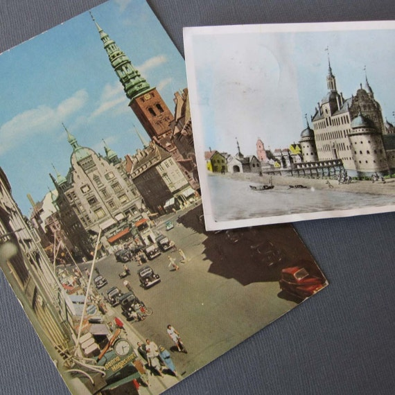 Vintage Travel Postcards from Copenhagen, Denmark and Vadstena, Sweden