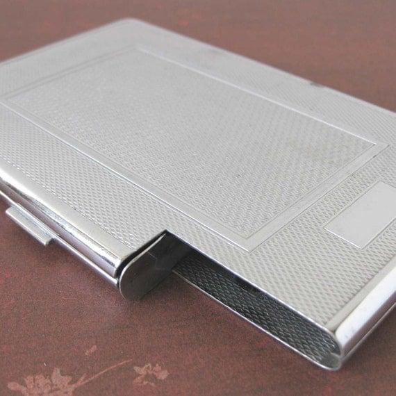 Silver Kincraft Cigarette Case\/Business Card Holder