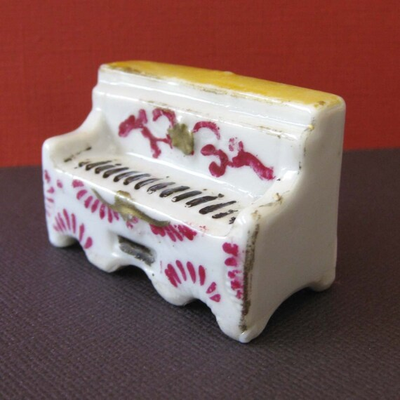 Tiny Porcelain Piano Figurine
