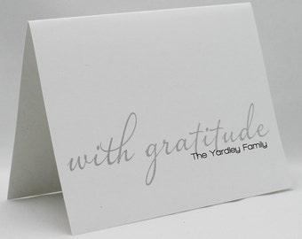 Custom With Gratitude Cards Set of 15