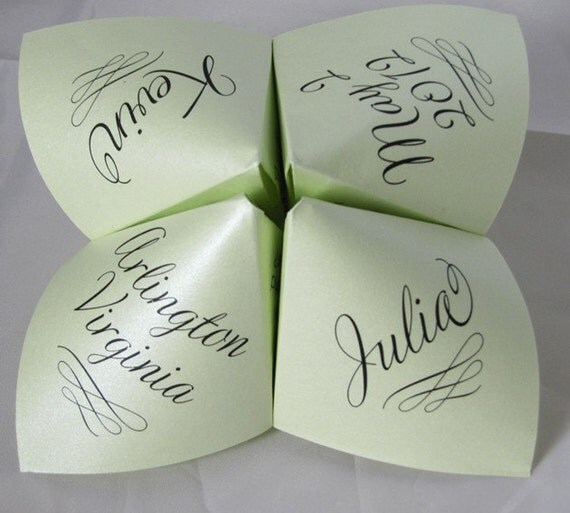 Cootie Catcher / Fortune Tellers - 3 Options - PDF, Fully Assembled OR Printed but Not Folded