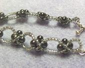 Hematite and Silver Reversible Bracelet