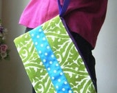 Lime and Carribean Blue Wristlet