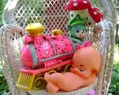 vintage kewpie doll toy cake topper supplies