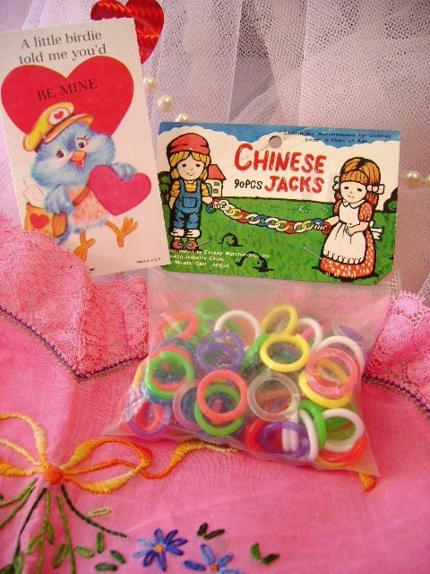 Vintage Chinese Jacks Toy Rings Crafts Assembly