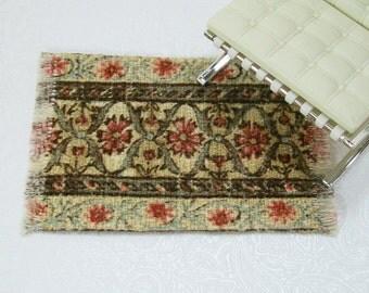 Brown Persian Small Carpet Rug Oriental 1:12 Dollhouse Miniatures Artisan