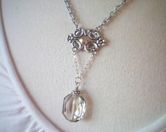 VICTORIA I - Swarovksi Crystal and Antiqued Silver Medallion