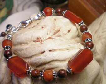 SUNSET -  Carnelian Gemstone Bracelet