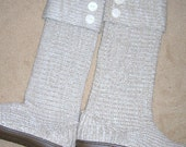 Cuffed Knit Sweater Boots - Custom size and Color