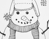 football fan snowman card and envelope