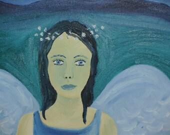 blue angel painting