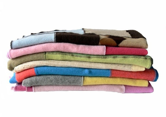 1 HANDMADE RECYCLED CASHMERE BLANKY RESERVED FOR  absoluteycrystal deposit
