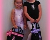 Personalized Custom Tote Bag,  Birthday Gift,  BALLET, DANCE CLASS, Gymnastics, Cheerleading, Bridesmaids,Princess,by Gingham Bunny