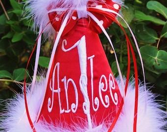 Christmas Birthday Hat, Santa Birthday Hat, First Birthday Hat, Baby Birthday Gift, Christmas 1st Birthday, Personalized Baby Birthday,