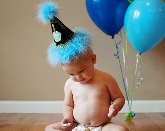 Cake Smash 1st Birthday Hat, First Birthday Hat, 1st Birthday Hat, Baby Birthday Hat, Baby First Birthday, Baby Gift,  GINGHAM BUNNY