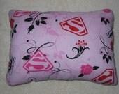 """Super Girl Travel Pillow/Toddler Pillow 10""""x14"""""""