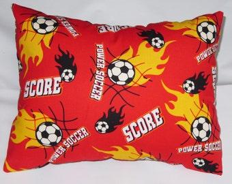 Power Soccer Travel Pillow -Toddler Pillow