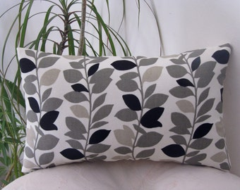 Waverly Leaf Garland Panther Lumbar Pillow/Throw Accent Pillow