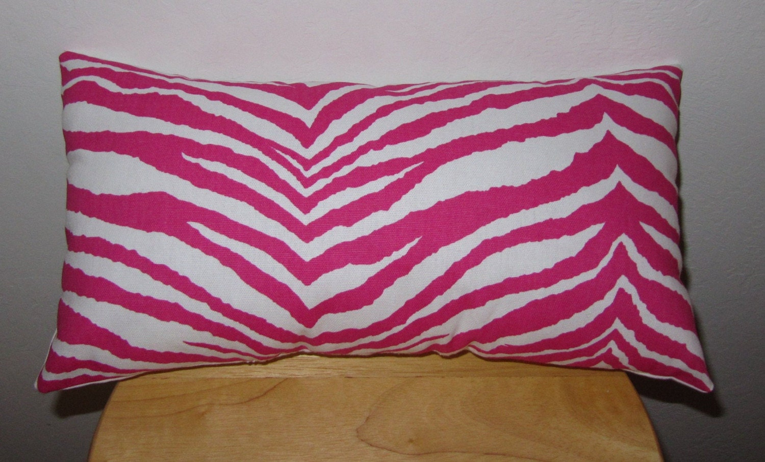 Hot Pink And Zebra Throw Pillows : Hot Pink Zebra Throw Pillow/Lumbar Pillow