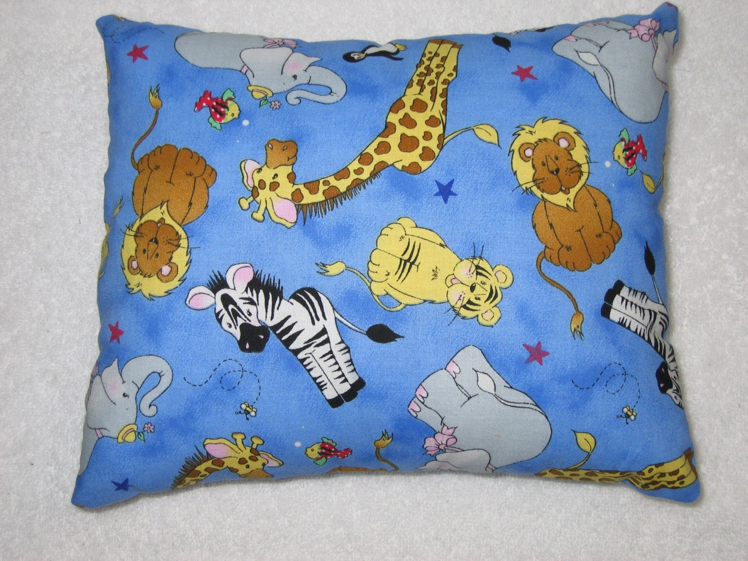 Zoo Animal Pillows : SALE Zoo Animals Travel/Toddler Pillow