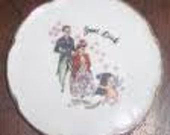 Victorian couple souvenier plate