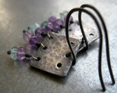 Small Sterling silver earrings with Amethyst and Apatite ON SALE