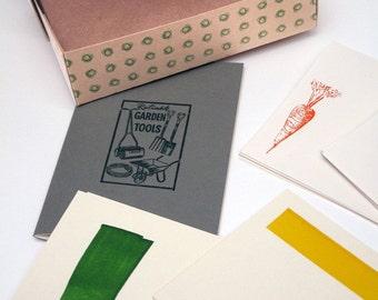 Letterpress Allotment Fancier's Stationery Set