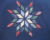 Navy Plaid Star - 4X