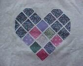 Violet Heart Sweatshirt- large - to benefit Heartline Ministries, Port  Au Prince, Haiti