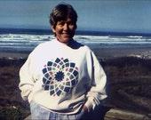 Hunter Green Giant Dahlia Sweatshirt - Large