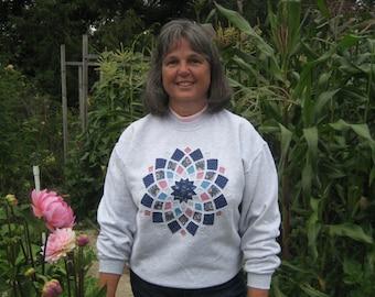 Gray Dahlia Sweatshirt - 2X