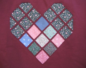 Cranberry Heart Sweatshirt - 2X - To benefit Heartline Ministries, Port Au Prince, Haiti