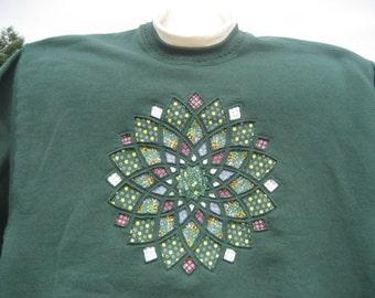 Hunter green Dahlia sweatshirt - X large