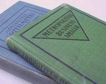 "antique STENOGRAPH and ARITHMETIC books -- ""Metropolitan Business Speller"", ""Advanced Arithmetic"""